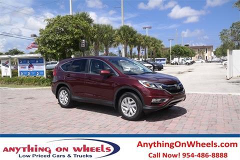 2015 Honda CR-V for sale at Anything On Wheels in Oakland Park FL