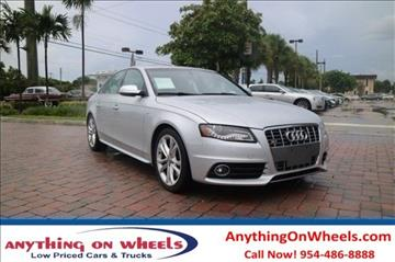 2010 Audi S4 for sale at Anything On Wheels in Oakland Park FL