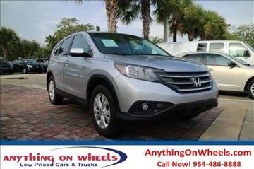 2012 Honda CR-V for sale at Anything On Wheels in Oakland Park FL