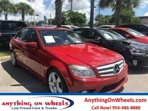 2010 Mercedes-Benz C-Class for sale at Anything On Wheels in Oakland Park FL
