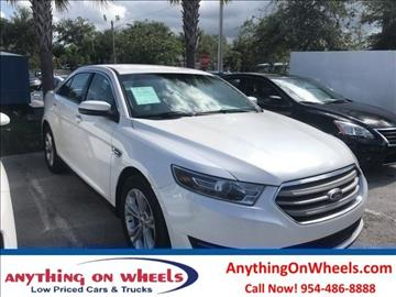 2015 Ford Taurus for sale at Anything On Wheels in Oakland Park FL