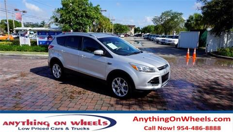2014 Ford Escape for sale at Anything On Wheels in Oakland Park FL