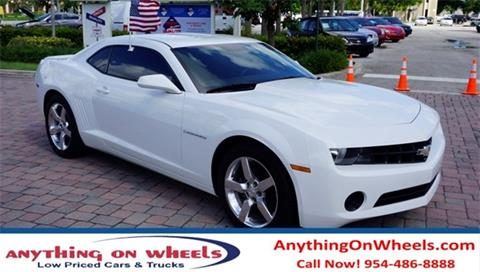 2013 Chevrolet Camaro for sale at Anything On Wheels in Oakland Park FL