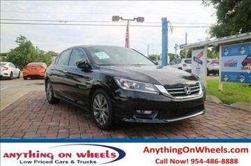 2014 Honda Accord for sale at Anything On Wheels in Oakland Park FL