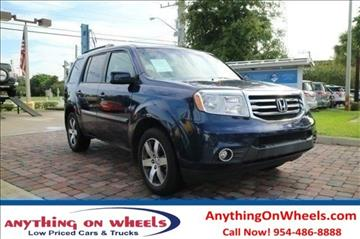 2013 Honda Pilot for sale at Anything On Wheels in Oakland Park FL