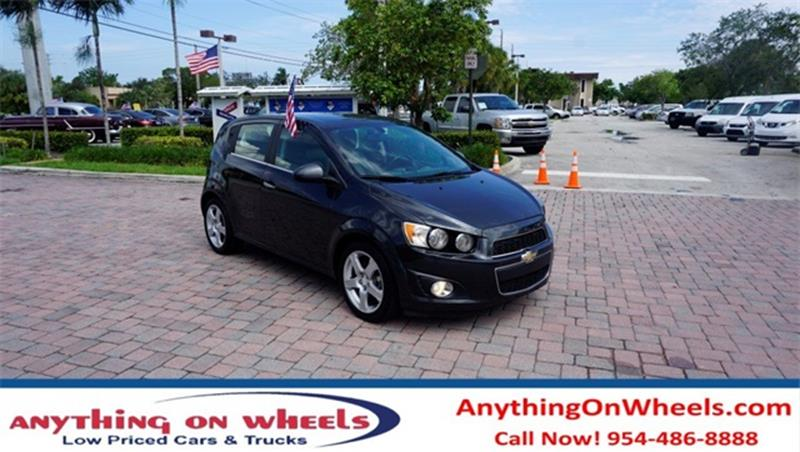 2015 Chevrolet Sonic for sale at Anything On Wheels in Oakland Park FL