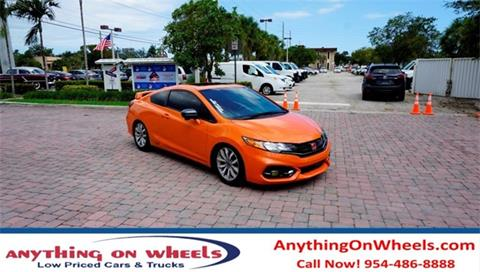 2015 Honda Civic for sale at Anything On Wheels in Oakland Park FL