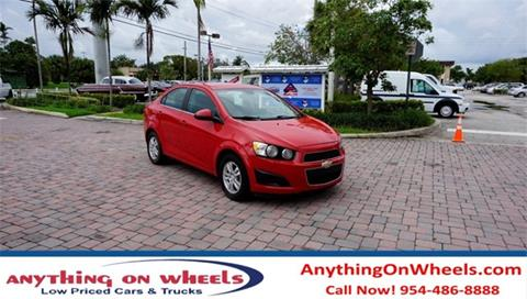2013 Chevrolet Sonic for sale at Anything On Wheels in Oakland Park FL
