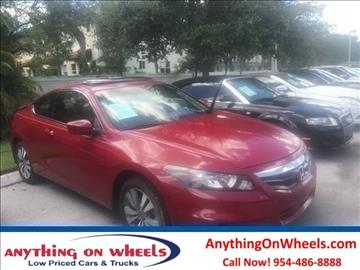 2012 Honda Accord for sale at Anything On Wheels in Oakland Park FL