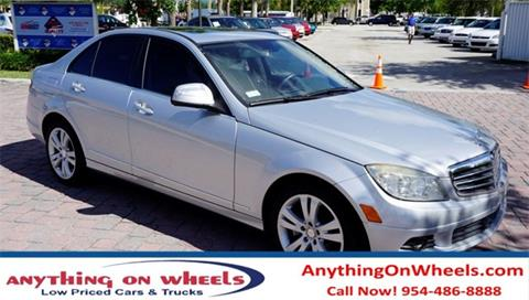 2009 Mercedes-Benz C-Class for sale at Anything On Wheels in Oakland Park FL