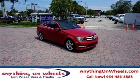 2013 Mercedes-Benz C-Class for sale at Anything On Wheels in Oakland Park FL