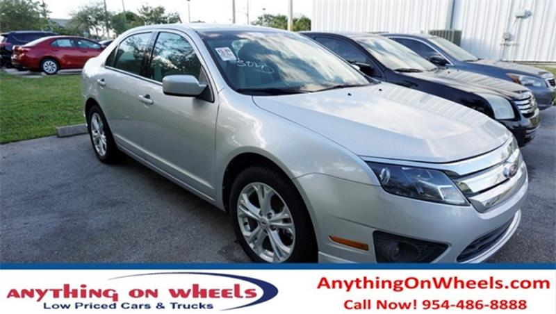 2012 Ford Fusion for sale at Anything On Wheels in Oakland Park FL