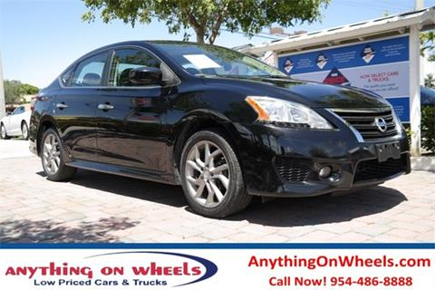 2013 Nissan Sentra for sale at Anything On Wheels in Oakland Park FL
