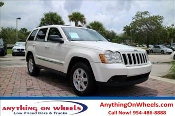 2010 Jeep Grand Cherokee for sale at Anything On Wheels in Oakland Park FL