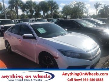 2016 Honda Civic for sale at Anything On Wheels in Oakland Park FL