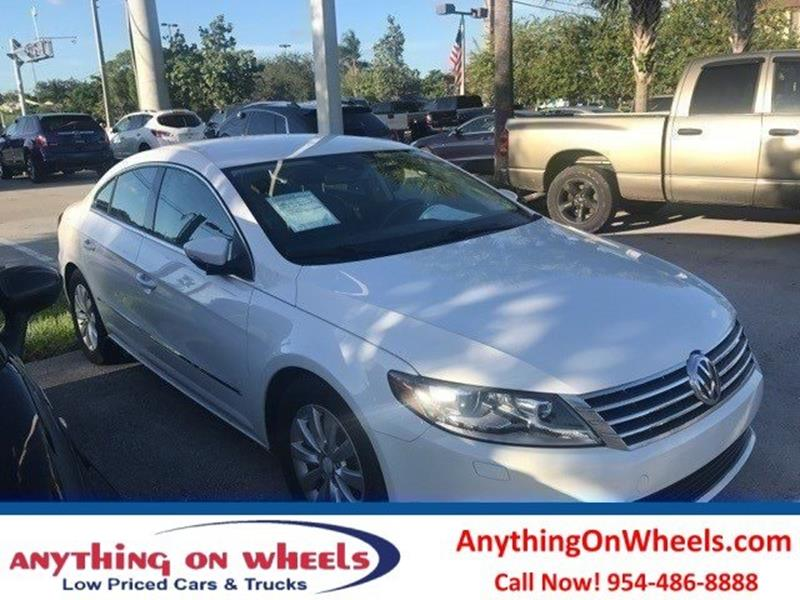 2013 Volkswagen CC for sale at Anything On Wheels in Oakland Park FL