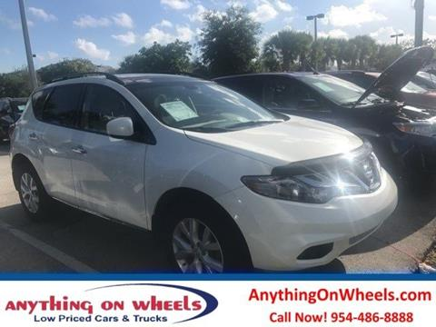 2013 Nissan Murano for sale at Anything On Wheels in Oakland Park FL