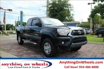 2012 Toyota Tacoma for sale at Anything On Wheels in Oakland Park FL