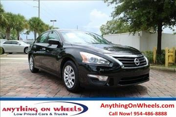 2015 Nissan Altima for sale at Anything On Wheels in Oakland Park FL