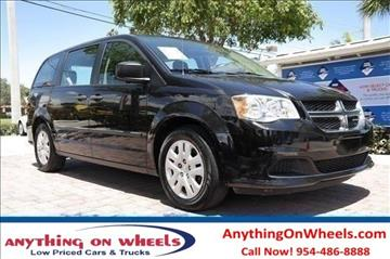 2014 Dodge Grand Caravan for sale at Anything On Wheels in Oakland Park FL
