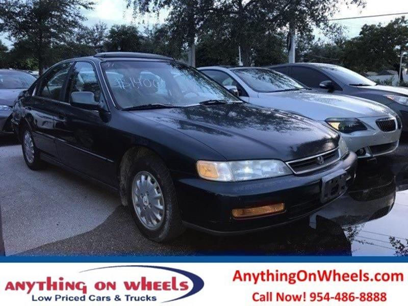 1997 Honda Accord for sale at Anything On Wheels in Oakland Park FL