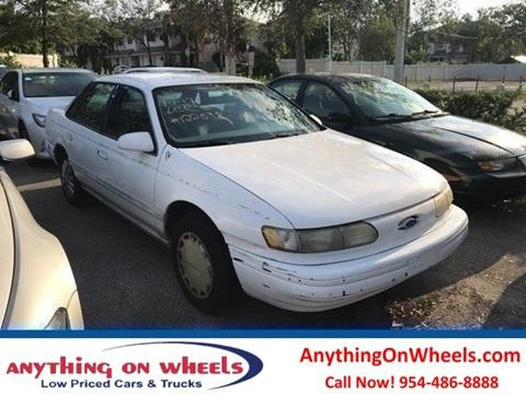 1995 Ford Taurus for sale at Anything On Wheels in Oakland Park FL & Used Cars Oakland Park Used Commercial Trucks For Sale Miami FL ... markmcfarlin.com