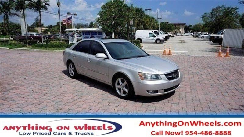 2007 Hyundai Sonata for sale at Anything On Wheels in Oakland Park FL
