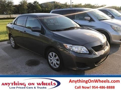2010 Toyota Corolla for sale at Anything On Wheels in Oakland Park FL