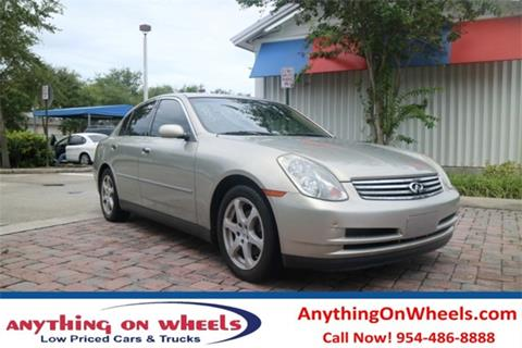 2003 Infiniti G35 for sale at Anything On Wheels in Oakland Park FL