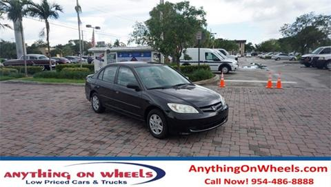 2005 Honda Civic for sale at Anything On Wheels in Oakland Park FL