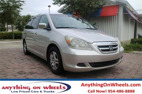 2007 Honda Odyssey for sale at Anything On Wheels in Oakland Park FL