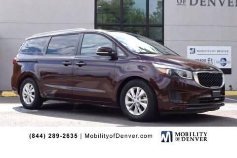 2015 Kia Sedona for sale at CO Fleet & Mobility in Denver CO