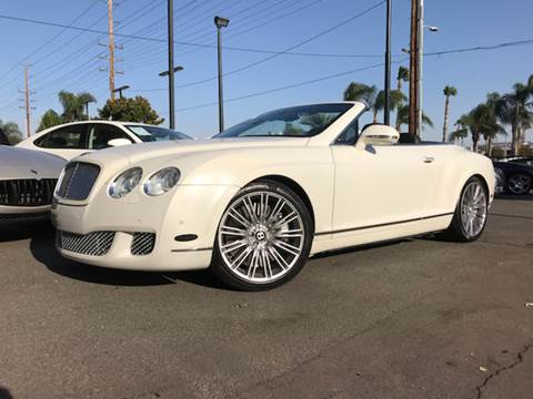 2010 Bentley Continental GTC Speed for sale in Riverside, CA