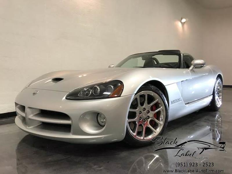 2003 Dodge Viper Srt 10 Riverside Ca Black Label Auto