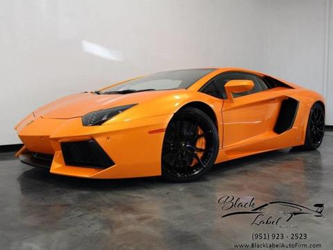 2013 Lamborghini Aventador for sale at BLACK LABEL AUTO FIRM in Riverside CA
