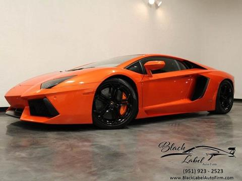 2012 Lamborghini Aventador for sale at BLACK LABEL AUTO FIRM in Riverside CA