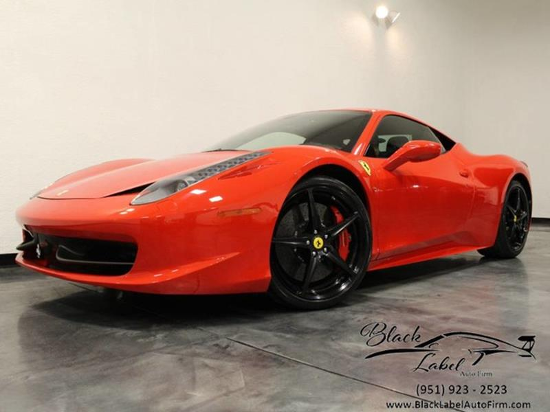 2012 Ferrari 458 Italia In Riverside Ca Black Label Auto Firm