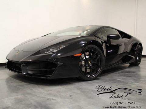 2016 Lamborghini Huracan for sale at BLACK LABEL AUTO FIRM in Riverside CA