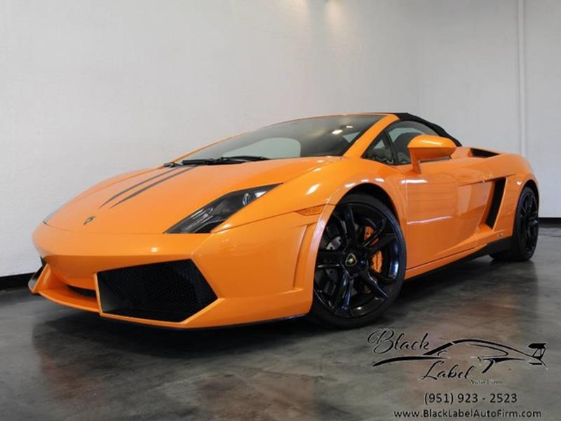 2012 Lamborghini Gallardo For Sale At BLACK LABEL AUTO FIRM In Riverside CA