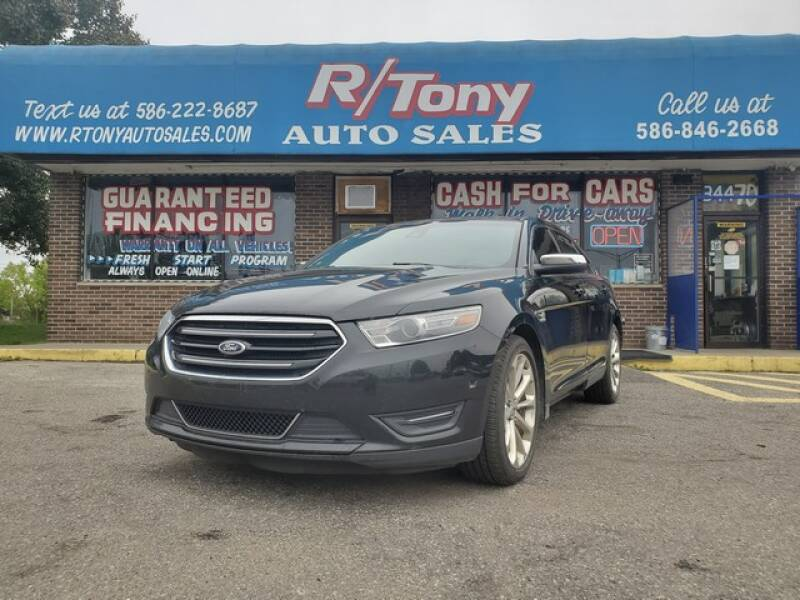 2013 Ford Taurus for sale at R Tony Auto Sales in Clinton Township MI