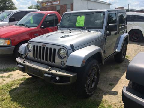 2017 Jeep Wrangler for sale at GENE AND TONYS DEMOTTE AUTO SALES in Demotte IN