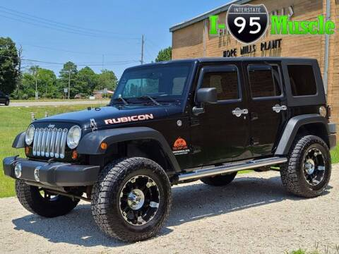 2009 Jeep Wrangler Unlimited for sale at I-95 Muscle in Hope Mills NC