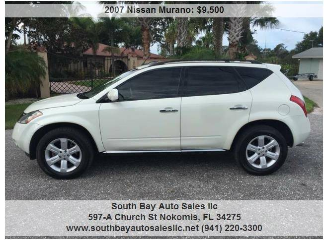 2007 Nissan Murano For Sale At South Bay Auto Sales Llc In Nokomis FL