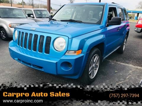 2008 Jeep Patriot for sale at Carpro Auto Sales in Chesapeake VA