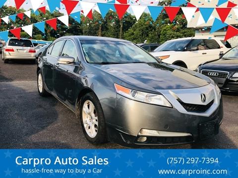 2009 Acura TL for sale at Carpro Auto Sales in Chesapeake VA