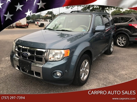 Used Cars For Sale In Virginia >> 2010 Ford Escape For Sale In Chesapeake Va