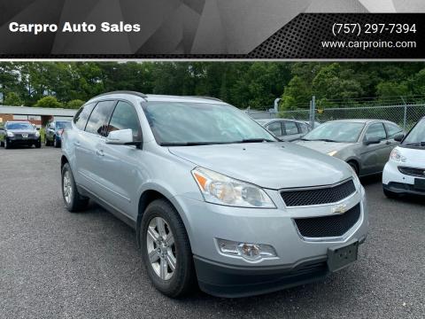 Chevrolet Traverse For Sale In Chesapeake Va Carpro Auto Sales