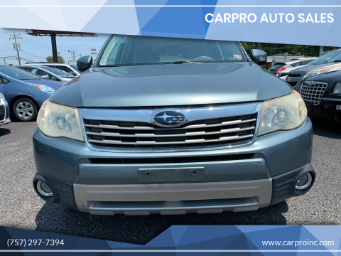 2010 Subaru Forester for sale at Carpro Auto Sales in Chesapeake VA