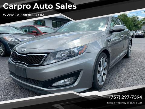 2013 Kia Optima for sale at Carpro Auto Sales in Chesapeake VA