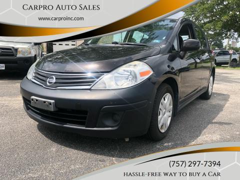 2011 Nissan Versa for sale at Carpro Auto Sales in Chesapeake VA